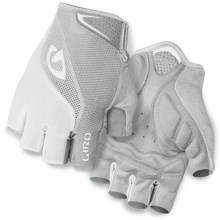 Giro Bravo Cycling Gloves - Fingerless (For Men and Women) in White/Silver - Closeouts