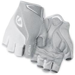 Giro Bravo Cycling Gloves - Fingerless (For Men and Women) in White/Silver
