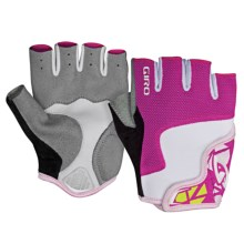 Giro Bravo Cycling Gloves - Fingerless (For Youth) in Pink/White - Closeouts