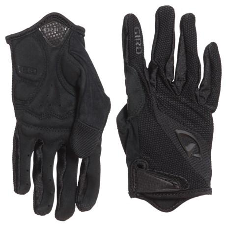 Giro Bravo Cycling Gloves - Full-Finger, Touchscreen Compatible (For Men) in Mono Black