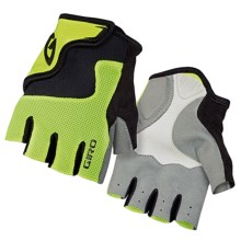 Giro Bravo Jr. Bike Gloves - Fingerless (For Big Kids) in Highlight Yellow/Black - Closeouts
