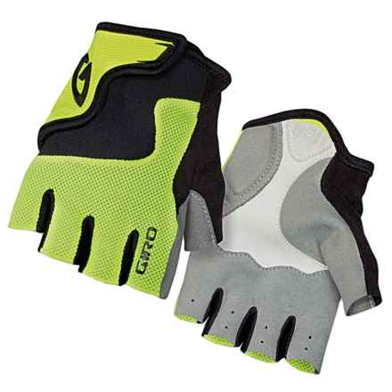 Giro Bravo Jr. Bike Gloves - Fingerless (For Big Kids) in Highlight Yellow/Black - Closeouts