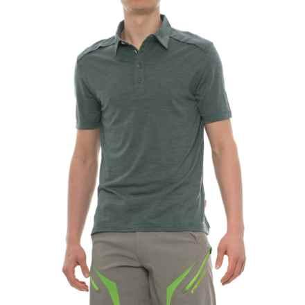 Giro CA Cycling Polo Shirt - Merino Wool, Short Sleeve (For Men) in Pewter Heather - Closeouts