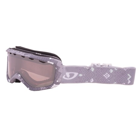 Giro Charm Snowsport Goggles (For Women) in Titanium Scout/Rose Silver 30