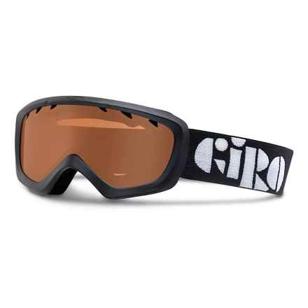 Giro Chico Ski Goggles (For Big Kids) in Black Stencil/Amber Rose - Closeouts