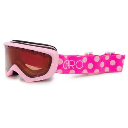 Giro Chico Ski Goggles (For Big Kids) in Pink/Magenta/ Dots/Amber Rose - Closeouts