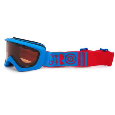 Giro Chico Ski Goggles (For Little Kids) in Blue/Red Geometric/Amber Rose - Closeouts
