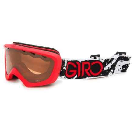 Giro Chico Ski Goggles (For Little Kids) in Red/Black Camo/Amber Rose - Closeouts