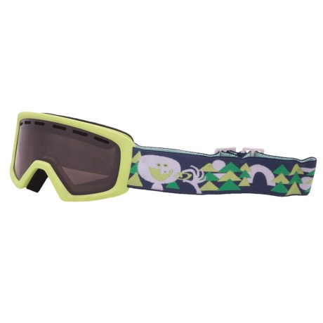 Giro Chico Snowsport Goggles (Youth) in Green Lil Bigfoot/Amber Rose