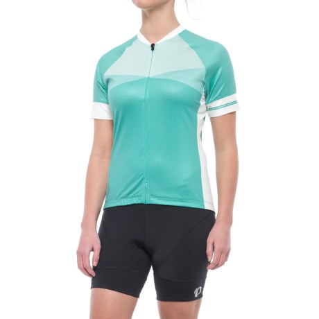Giro Chrono Expert Jersey - Full Zip, Short Sleeve (For Women) in Matrix Turquoise