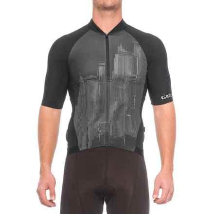Giro Chrono Pro Cycling Jersey - Full Zip, Short Sleeve (For Men) in Skyline Black - Closeouts