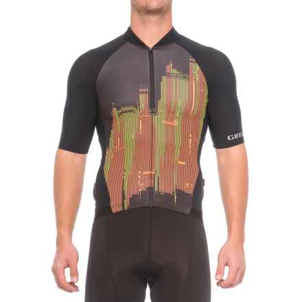 Giro Chrono Pro Cycling Jersey - Full Zip, Short Sleeve (For Men) in Skyline Flame - Closeouts