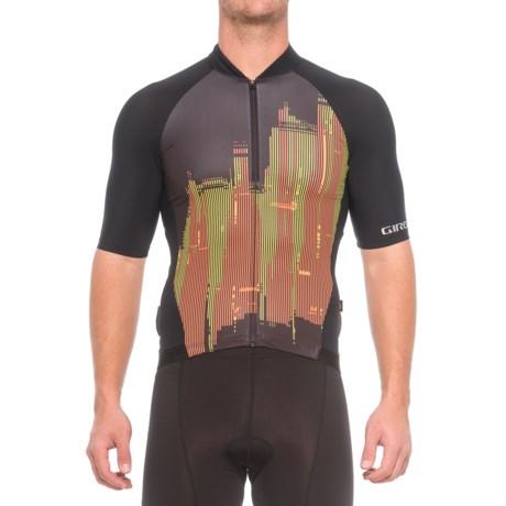 Giro Chrono Pro Cycling Jersey - Full Zip, Short Sleeve (For Men) in Skyline Flame