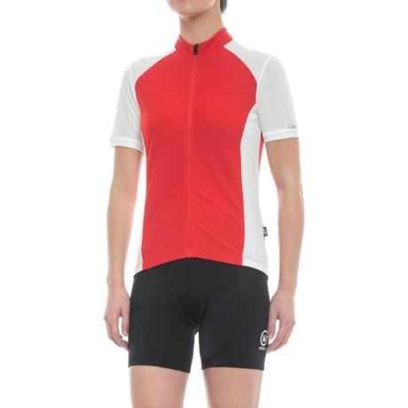Giro Chrono Sport Cycling Jersey - Short Sleeve (For Women) in Race Red