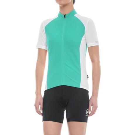Giro Chrono Sport Cycling Jersey - Short Sleeve (For Women) in Turquoise