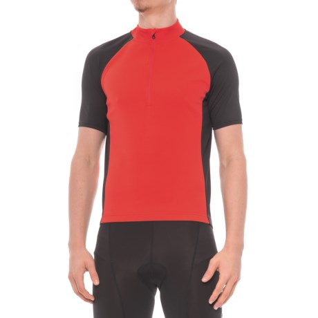 Giro Chrono Sport Cycling Jersey - Zip Neck, Short Sleeve (For Men) in Bright Red