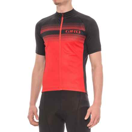 Giro Chrono Sport Sublimated Cycling Jersey - Full Zip, Short Sleeve (For Men) in Bright Red Ripper - Closeouts