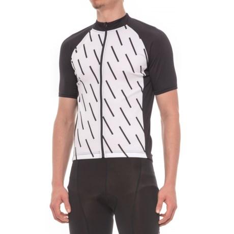 Giro Chrono Sport Sublimated Cycling Jersey - Full Zip, Short Sleeve (For Men) in White Echelon