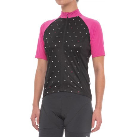 Giro Chrono Sport Sublimated Cycling Jersey - UPF 20+, Short Sleeve (For Women) in Black Sharktooth