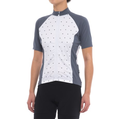 Giro Chrono Sport Sublimated Cycling Jersey - UPF 20+, Short Sleeve (For Women) in White Sharktooth