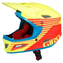 Giro Cipher Full Face Helmet (For Men and Women) in Matte Glowing Red/Highlight Yellow - Closeouts