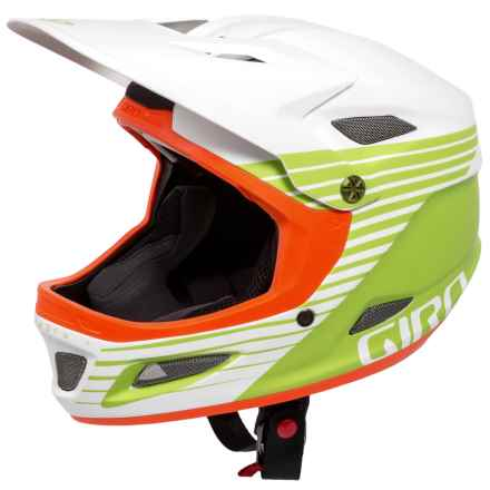 Giro Cipher Full Face Helmet (For Men and Women) in Matte White/Lime/Flame - Closeouts