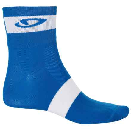 Giro Comp Racer Cycling Socks - Ankle (For Men and Women) in Blue Jewel/White - Closeouts