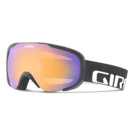 Giro Compass Flash Ski Goggles in Black Wordmark/Persimmon Boost - Closeouts