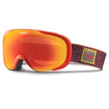 Giro Compass Flash Ski Goggles in Brick Red Outpack/Amber Scarlet - Closeouts