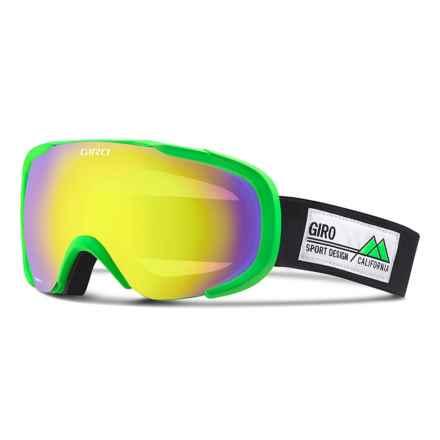 Giro Compass Flash Ski Goggles in Bright Green Frame Pop/Yellow Boost - Closeouts