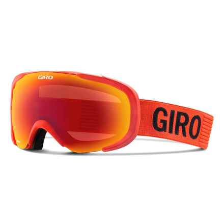 Giro Compass Flash Ski Goggles in Glowing Red Monotone/Amber Scarlet - Closeouts