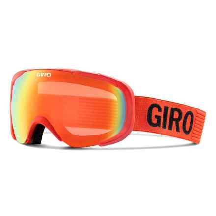 Giro Compass Flash Ski Goggles in Glowing Red Monotone/Persimmon Blaze - Closeouts