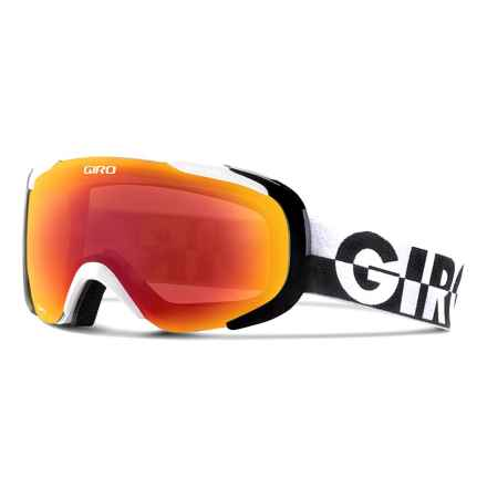 Giro Compass Flash Ski Goggles in White 50-50/Amber Scarlet - Closeouts