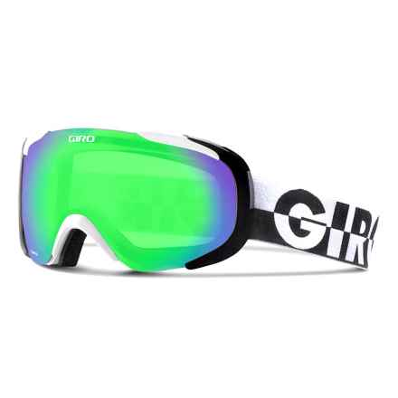 Giro Compass Flash Ski Goggles in White 50-50/Loden Green - Closeouts
