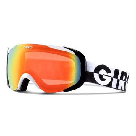 Giro Compass Flash Ski Goggles in White 50-50/Persimmon Blaze