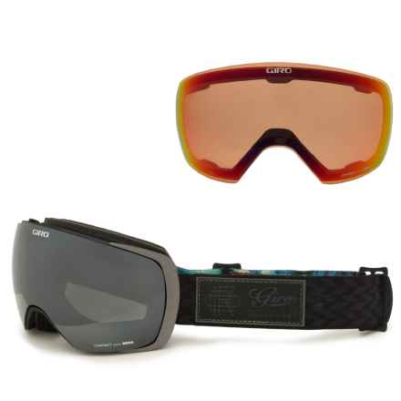 Giro Contact Ski Goggles - Asia Fit, Extra Lens in Black/Blazer/Black/Persimmon Blaze - Closeouts