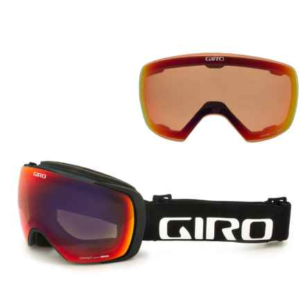 Giro Contact Ski Goggles - Asia Fit, Extra Lens in Black Wordmark/Amber Scarlet/Persimmon Blaze - Closeouts