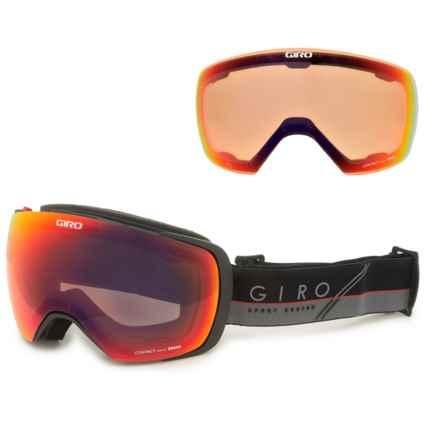Giro Contact Ski Goggles - Extra Lens in Black/Gray/ Slash/Amber Scarlet/Persimmon Blaze - Closeouts