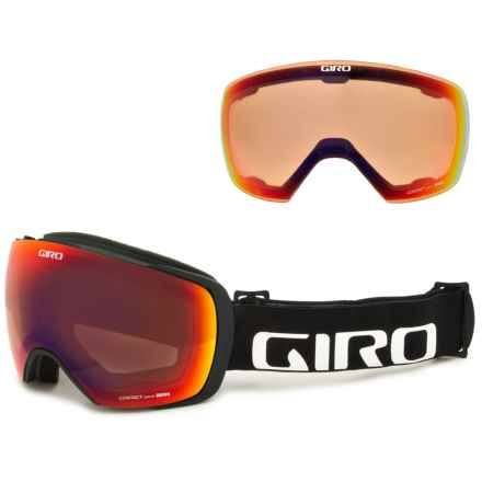 Giro Contact Ski Goggles - Extra Lens in Black Wordmark/Amber Scarlet/Persimmon Blaze - Closeouts