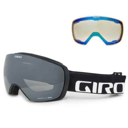 Giro Contact Ski Goggles - Extra Lens in Black Wordmark/Black/Yellow Boost - Closeouts