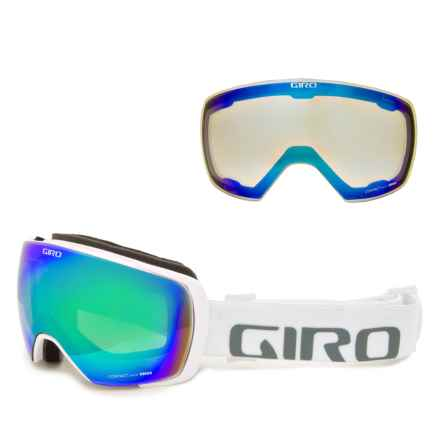 Giro Contact Ski Goggles - Extra Lens in White Wordmark/Loden Green/Yellow Boost - Closeouts