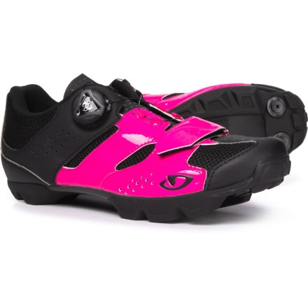 1af9c18002e Giro Cylinder Mountain Bike Shoes (For Women) in Bright Pink Black -  Closeouts