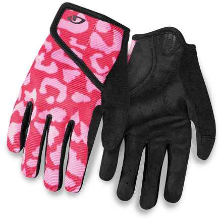 Giro DND Cycling Gloves (For Kids and Youth) in Pink/Black - Closeouts