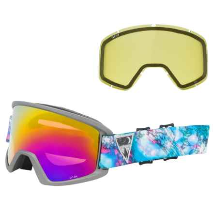 Giro Dylan Flash Ski Goggles - Extra Lens (For Women) in Black Galaxy/Rose Gold Spectrum W/ Yellow - Closeouts
