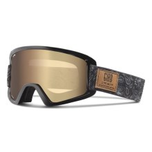 Giro Dylan Flash Ski Goggles - Extra Lens (For Women) in Black Paisley/Amber Gold - Closeouts