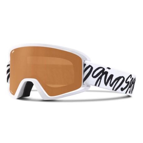 Giro Dylan Ski Goggles (For Women) in White Script/Ar40