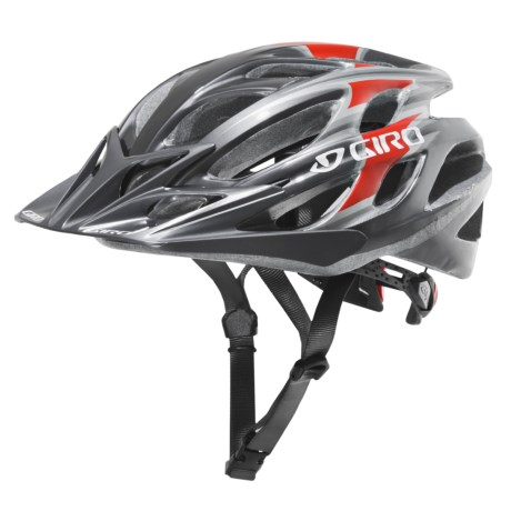 Giro E2 Bike Helmet in Gun Metal / Red