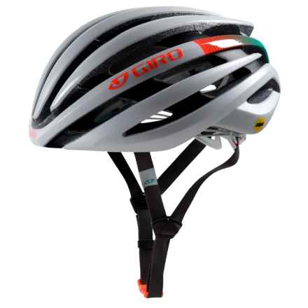 Giro Ember Bike Helmet - MIPS (For Women) in Matte White/Turquoise/Vermillion - Closeouts