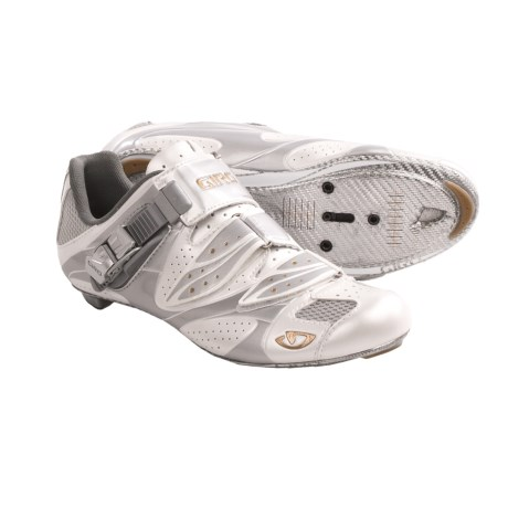 Giro Espada Road Cycling Shoes - 3-Hole (For Women) in White/Silver