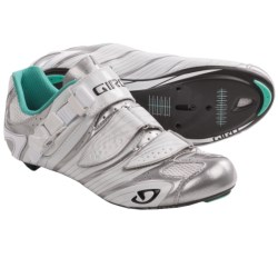 Giro Factress Road Cycling Shoes - 3-Hole (For Women) in Black Pearl/Fuchsia